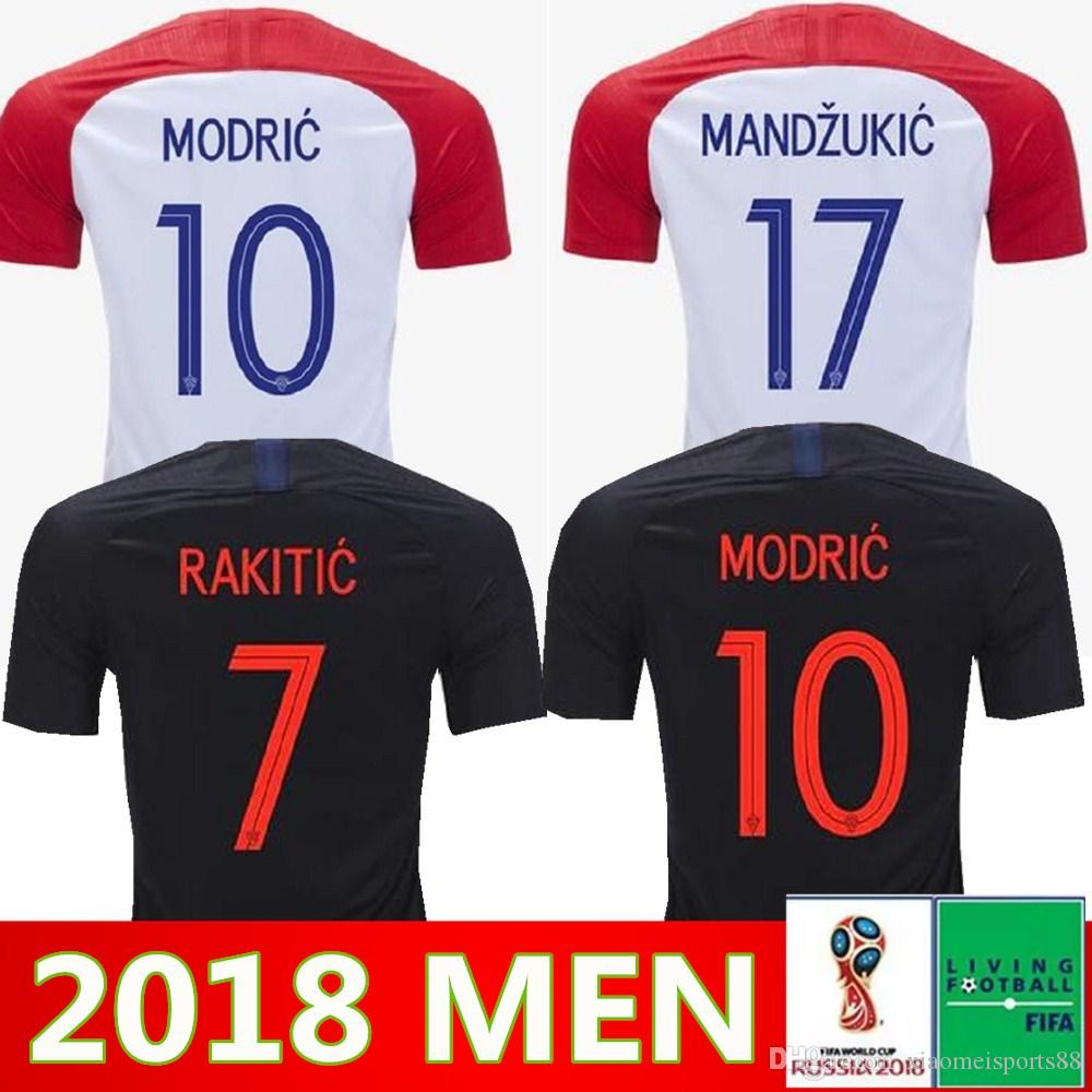 2409a2d6cb8 2019 2018 World Cup Designed For CroATia Home Soccer Jersey MODRIC PERISIC  RAKITIC MANDZUKIC SRNA KOVACIC Red KALINIC Hrvatska Football Shirt From ...