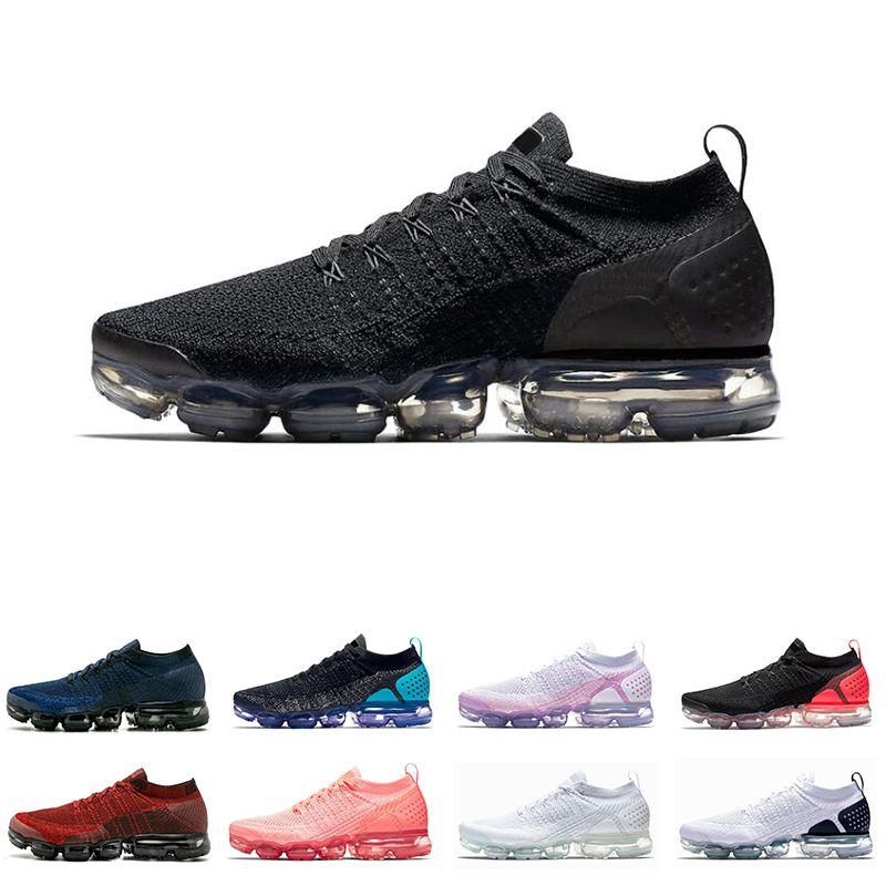 17421da601680d Großhandel Nike Air Vapormax Flyknit 1.0 2.0 Beliebte 1.0 2.0 Herren  Laufschuhe Triple Weiß Schwarz Crimson Pulse Damen Trainer Chaussures Herren  ...