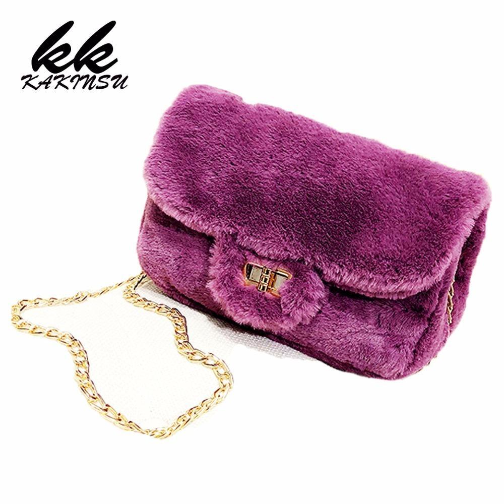 Designer 2019 New Vintage Faux Fur Women Bag Women Messenger Bags Shoulder  Cross Chain Bucket Bag Winter Soft Lady Flap Designer Bag Leather Backpacks  ... 2c3578259bd3e