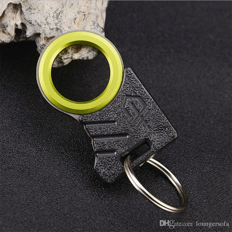Car Life Saving Rope Cutter Outdoor Camping Single Finger Knifes EDC Twine Knife Multifunction Key Chain Tool Portable Black 6 5sj C1