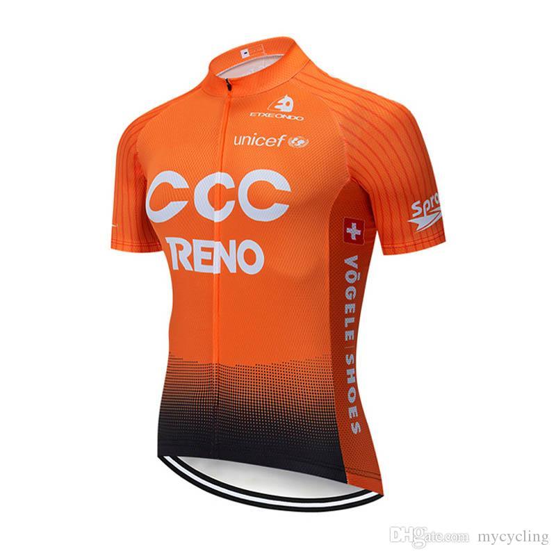 9d002a187bb27 Nuevo 2019 EQUIPO CCC Ciclismo Profesional Camiseta De Bicicleta De Montaña  MTB Ropa Ciclismo Verano Hombres De Secado Rápido Ciclismo Remata Ropa  Deportiva ...