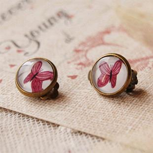 4aad8f3570c5 Compre Piercing Púrpura Mariposa Clip Orejas Perforadas Chicas ...