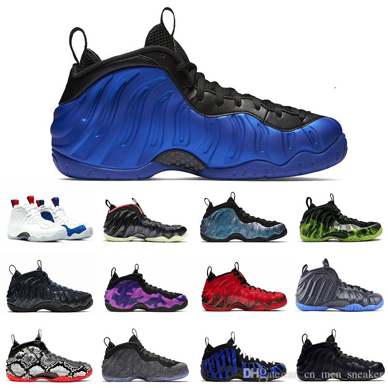 Penny Hardaway Hommes Chaussures de basket-ball en mousse Un Abalone Habanero Red OG royal Galaxy Alternate olympique CNY Sport Hommes Sneaker 7-13