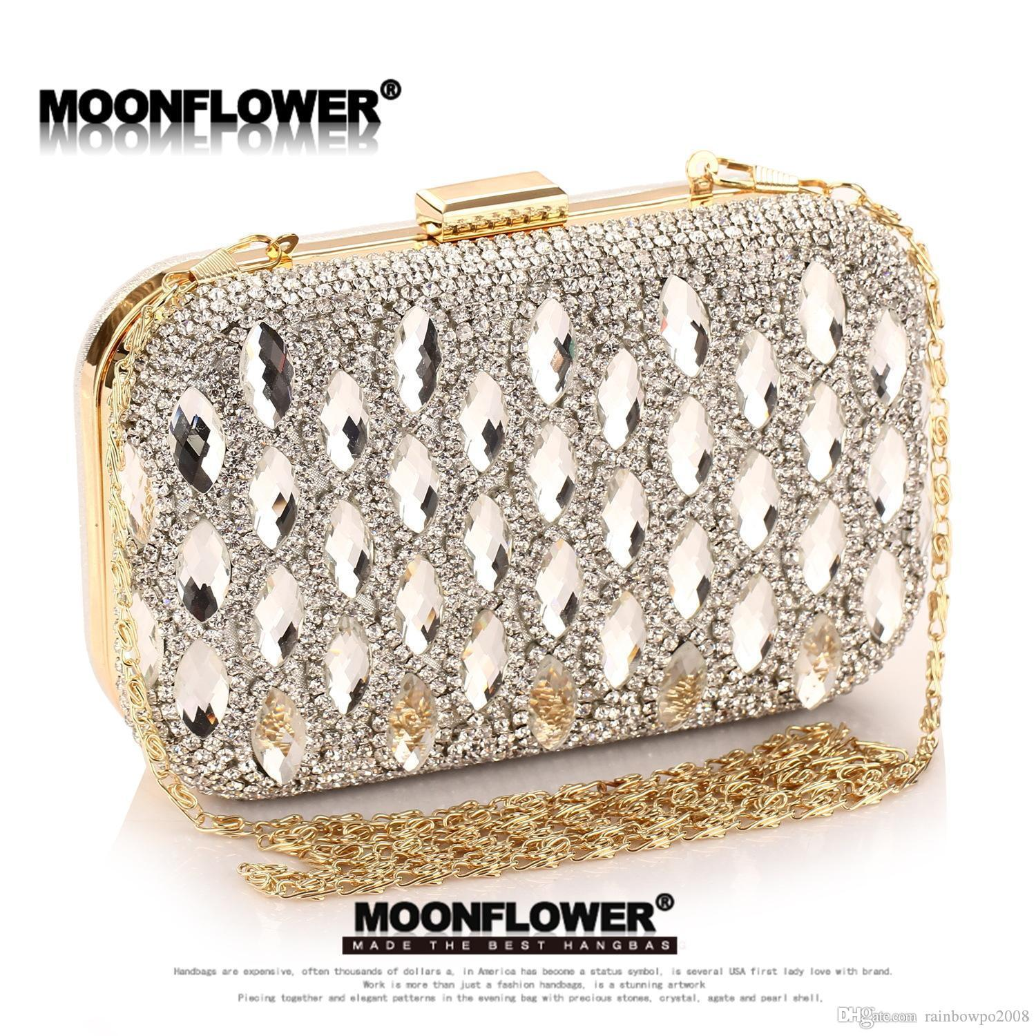 factory sales Custom brand Exclusive handbags high-end glass drill hand bags are dazzling diamond dinner dinner dress female handbags