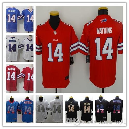 check out 5c50e 8ebe5 2019 New Mens 14 Frank Reich Jerseys Buffalo Bills Football Jerseys 100%  Stitched Embroidery Bills Frank Reich Color Rush Football Shirts
