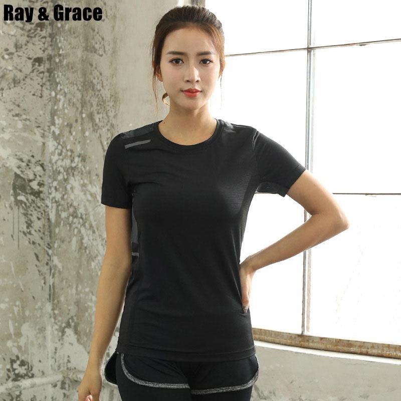 4e86202c4690 Summer Women Running T Shirts Breathable Quick Dry Sport Shirt ...
