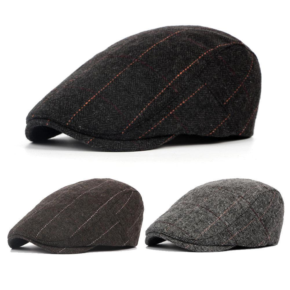 87b82ed149c1c 2019 Autumn Spring Sun Hat For Classic Men Western Vintage Wool Cabbie  Newsboy Cap Casual Beret Golf Driving Flat Adjustable Caps From W245, $41.5  | DHgate.
