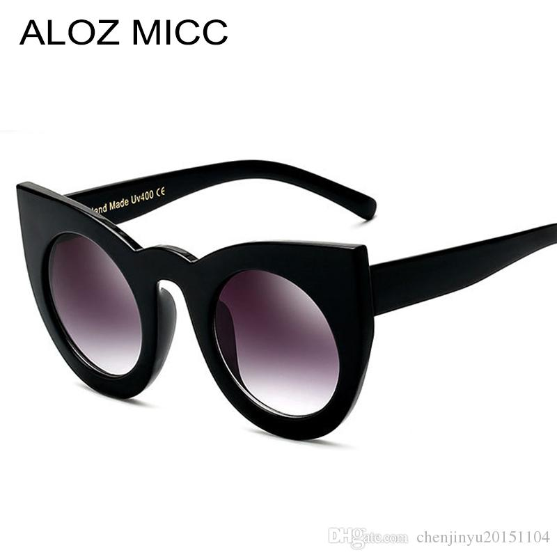 1d8fb4beee ALOZ MICC Women Sunglasses Big Frame Mirror Glasses Chunky Cat Eye  Sunglasses Women Brand Designer Sunglasses A019 Polarised Sunglasses Baby  Sunglasses From ...