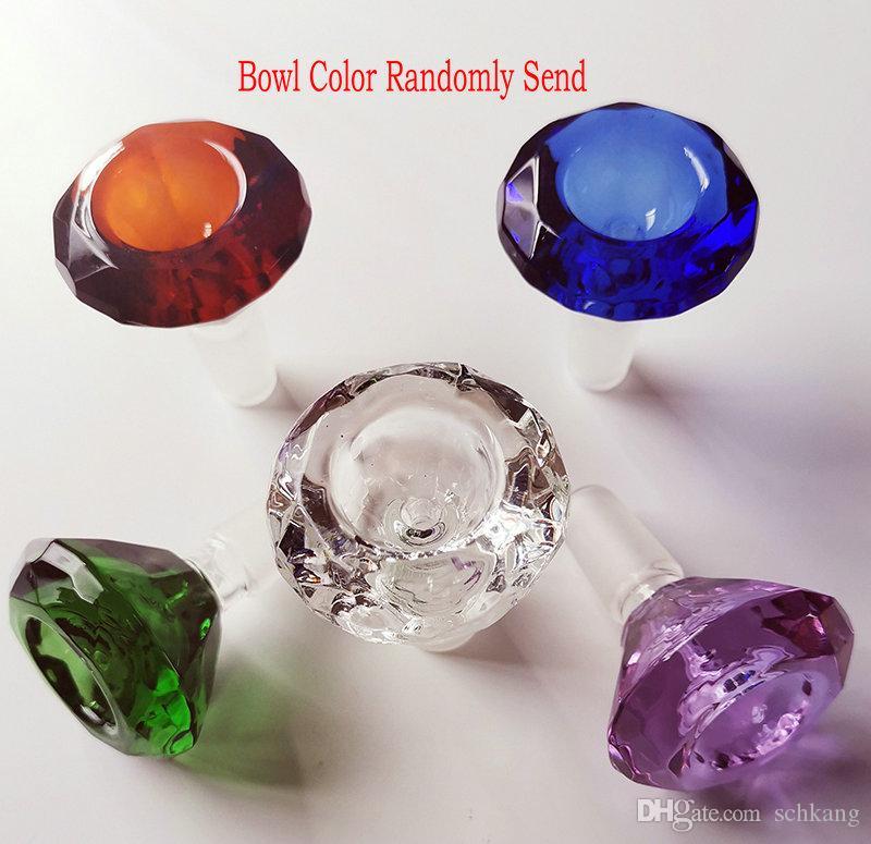 Glass Bong Recycler Oil Rig Cera Tubature dell'acqua Heady Klein Bong Dab rigs tubi con ciotola o banger quarzo o chiodo in titanio