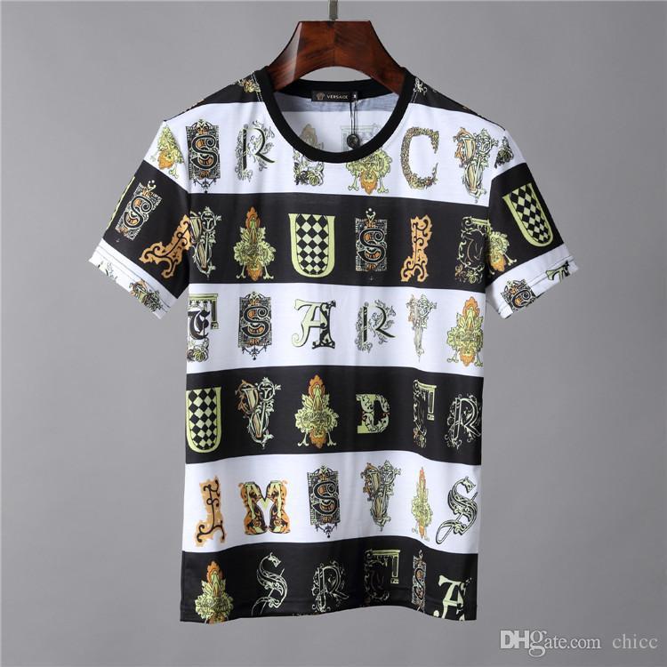 20f5b86e 19ss New Season Baroque Print T SHIRT Men Ver T Shirts Sace Mens Women  Short Sleeved T Shirt Tops Shorts Tee V034 Clothing That T Shirt But T  Shirts From ...
