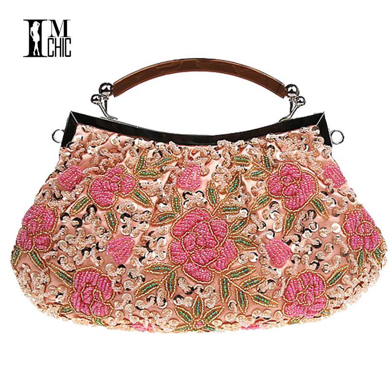Embroidery Beaded Women Clutch Bag Vintage Flower Sequins Evening Party Handbags  Wedding Bridal Tote Bags Handmade Women Bag Tote Bag Women Bag Clutch Bag  ... 5e856acbc25a