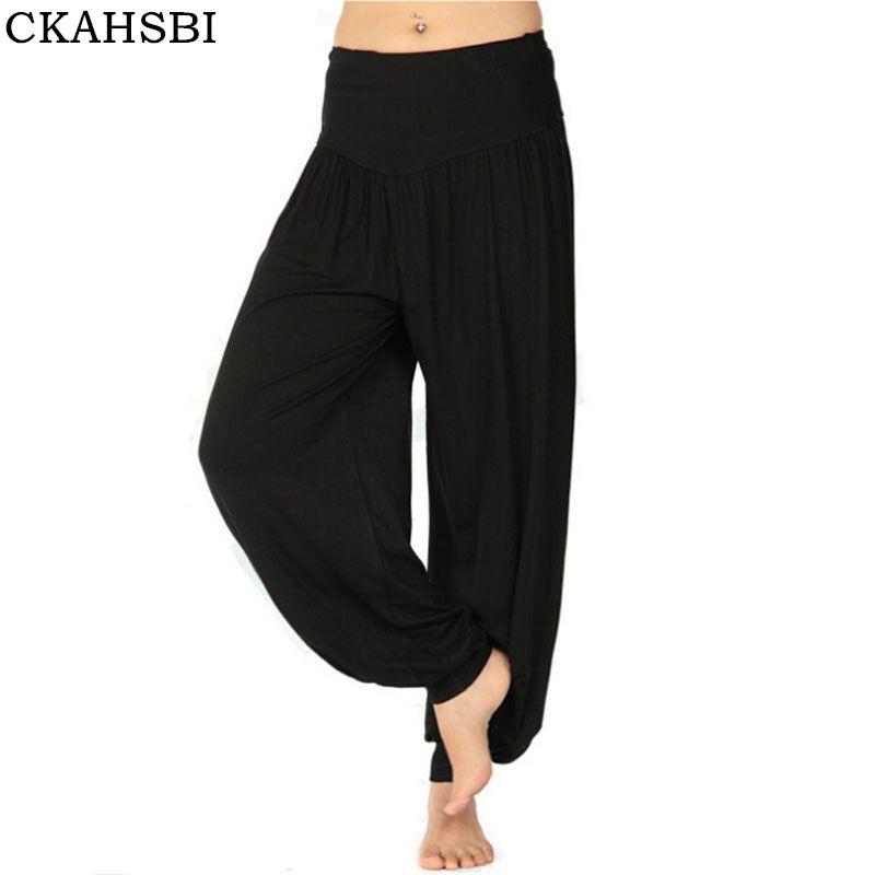 bfcddf3867 2019 CKAHSBI Yoga Leggings Women Colorful Bloomers Dance Yoga TaiChi Full  Length Pants Modal Clothes Black Plus Size Pants From Enhengha, $36.08 |  DHgate.