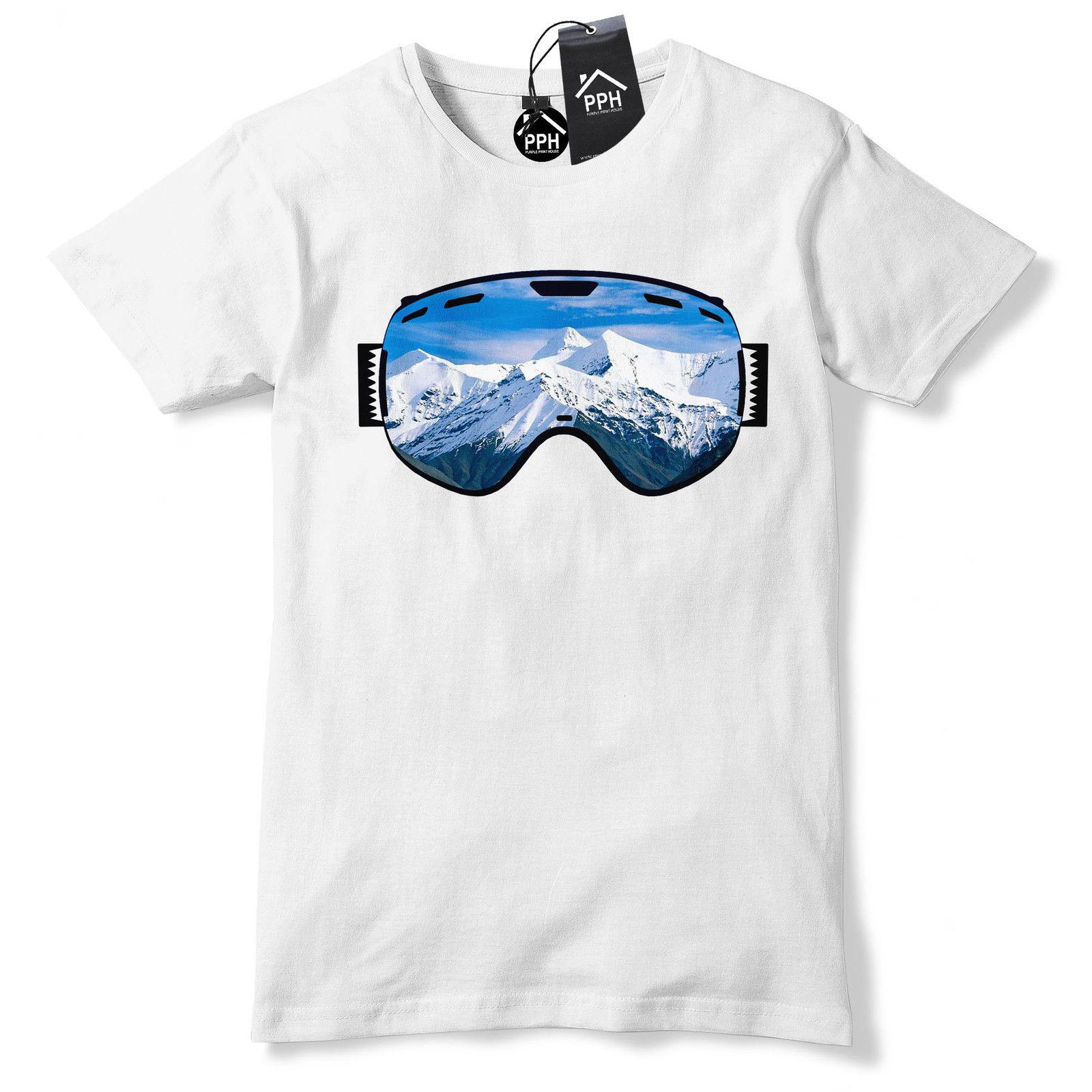 0f589f9985c0 Ski Goggles Mountain View T Shirt Mens Womens Kids Skiing Top Snowboard  Gift 488 Hoodie Hip Hop T Shirt But T Shirts T Shirts Funky From Docup