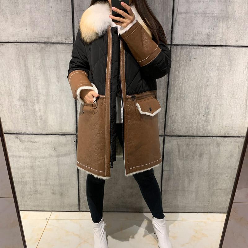 outlet store 897be 857be cappotto donna in camoscio donna cappotto in pelle scamosciata di agnello  scamosciato shearling con piumino