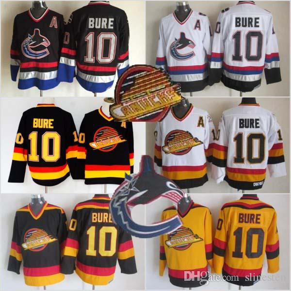 Men Vancouver Canucks Ice Hockey Jersey Cheap 10 Pavel Bure Vintage  Authentic Stitched Jerseys UK 2019 From Slinesten 5e2f4fe0c