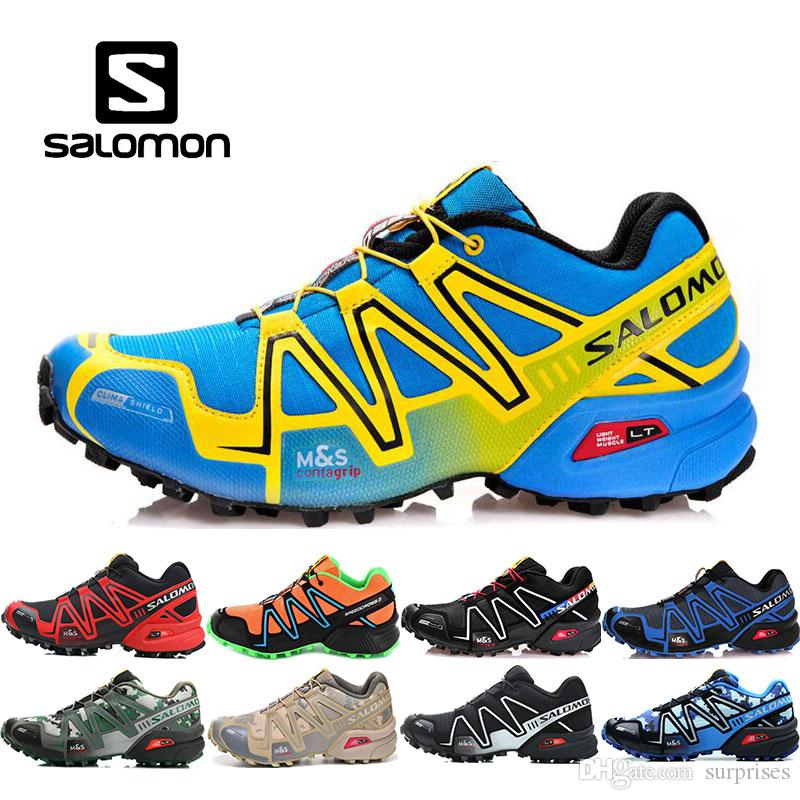separation shoes 34b98 d1bf4 New Salomon Uomo Scarpe zapatos hombre Speed Cross 3CS III Sport Sneakers  Uomo Nero outdoor atletico Speedcross Solomon scarpe da corsa 40-46