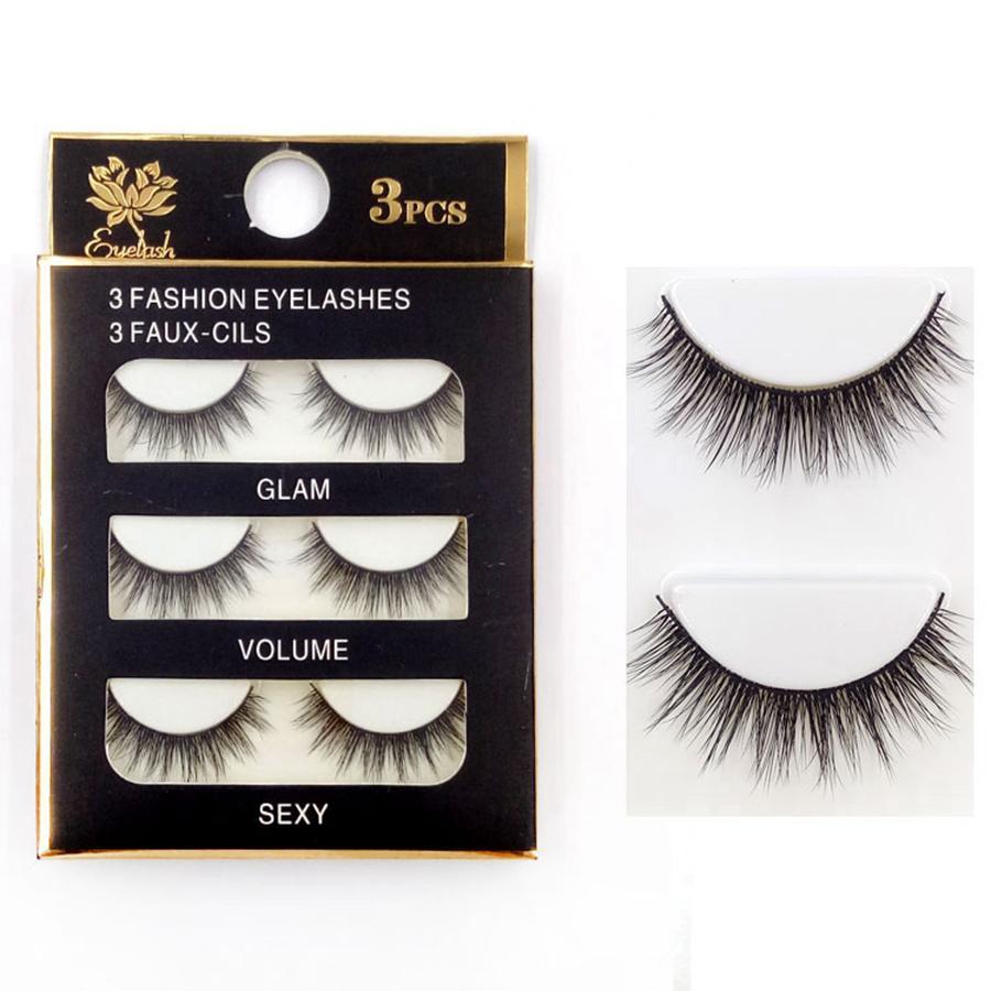 b0b607edfa9 3D Mink Eyelashes Natural False Eyelashes Long Eyelash Extension ...