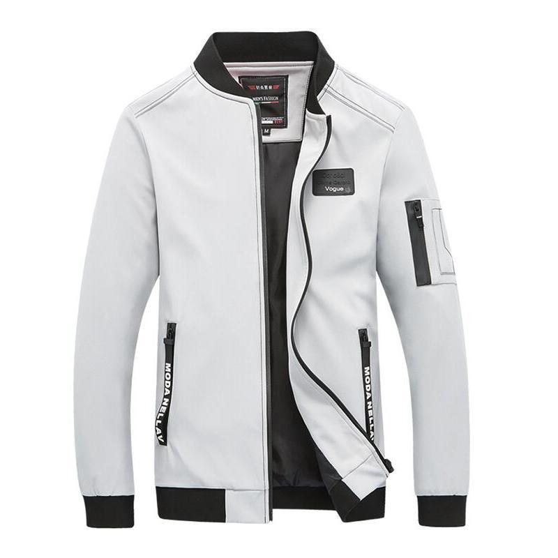 b22de972b5e7 2019 New Men Baseball Bomber Jacket Spring Autumn Fashion Brand Slim Fit  Coats Male Mens Coat Large Size 5XL Shearling Jacket Leather Coats From  Rebecco