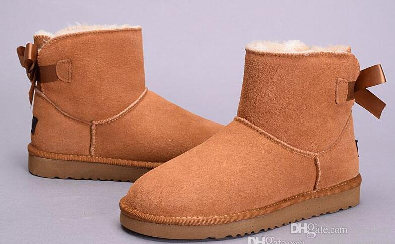 1166a968e05 Winter High Quality Women Australia Classic tall Boots lady girl boots Boot  black chestnut coffee Snow Knee boots leather shoes Eur 36-41