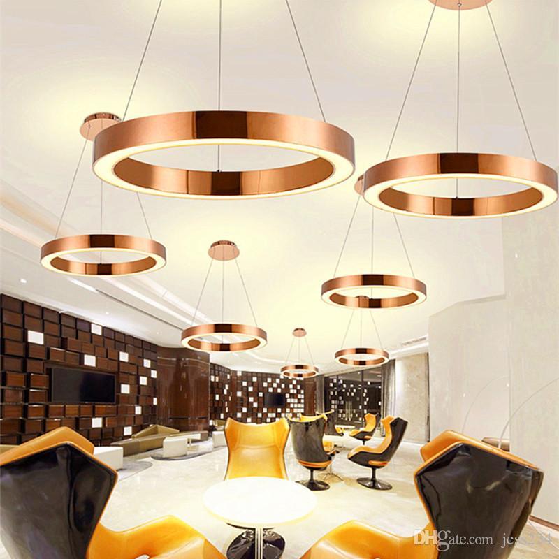 Acheter Moderne Nordic Rose Gold Restaurant LED Pendentif Lumières ...