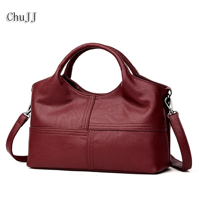 a646794660f Chu Jj High Quality Women S Genuine Leather Handbags Patchwork Shoulder  Crossbody Bags Fashion Soft Leather Women Bags Y190124 Ladies Purse  Designer Purses ...