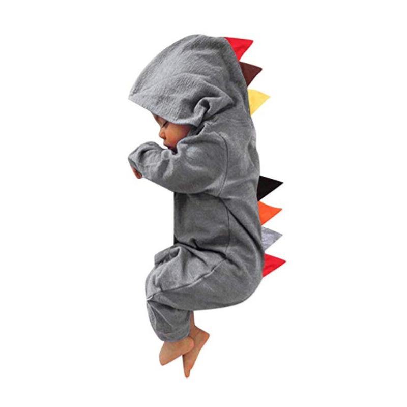 Baby Jumpsuit Kids Rompers Boys Girls Crawling Pants Dinosaur Fish Teeth Zipper Climbing Suit Long Sleeve 41