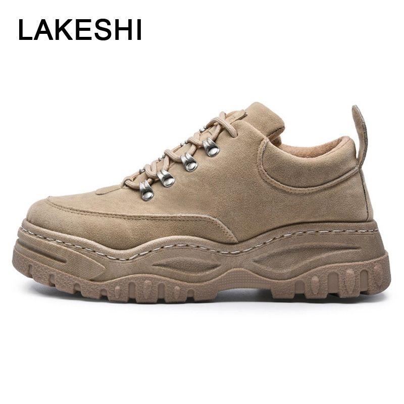 e768cb639 Compre Zapatos Casuales De Hombre Zapatillas De Deporte De Hombre Zapatos  De Cuero De Gamuza De Moda Hombres Zapatillas De Deporte De Invierno Para  Hombre ...