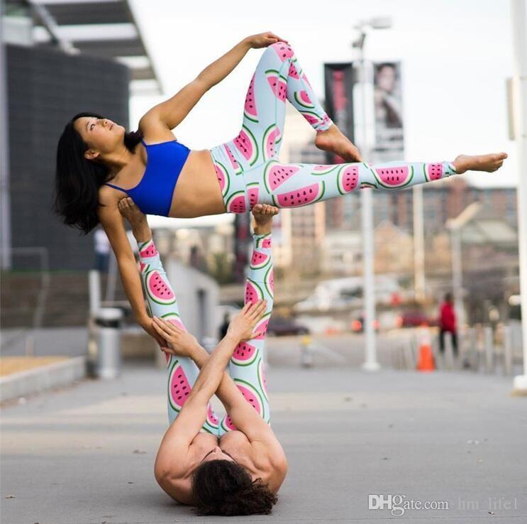7f59a41a60de7d 2019 Women Yoga Pants Pants Digital Print Digital Watermelon Printing Shape  Pantyhose Lady High Waist Dance Activity Leggings Tights From Zhqshmb, ...
