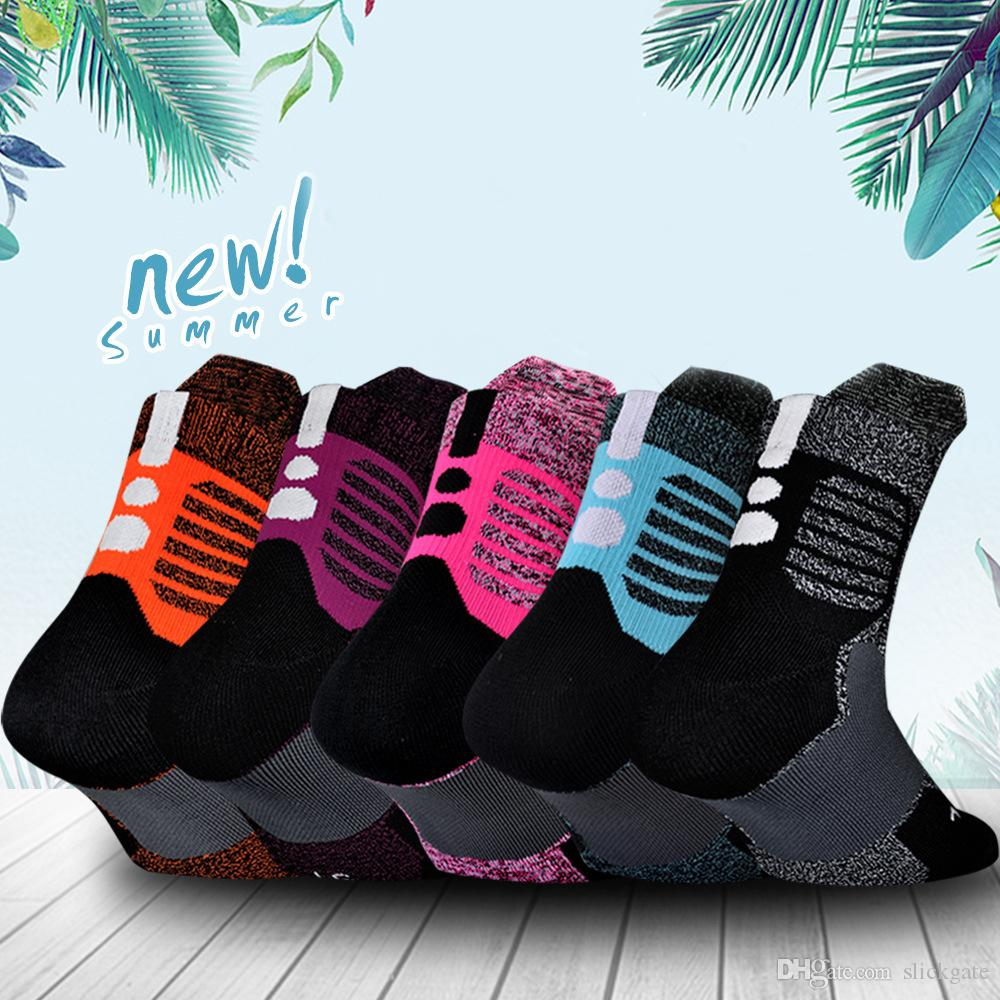Free DHL 201909 Professional Basketball Socks Breathable Sweat-Absorbent Towel Cotton Socks Outdoor Sports Anti-Skid Sock 11 Colors M643F