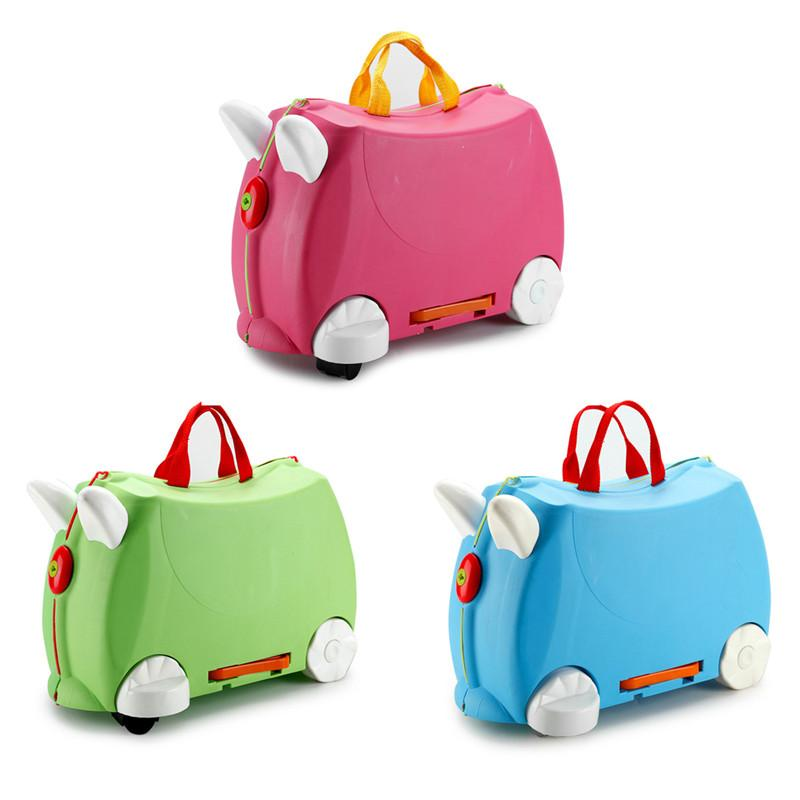 43d7fa471e04 Plastic Children Suitcase Outdoor Travel Camping Luggage Box Portable Plane  Carry Rolling Pull Rod Bags Kids Toys Trolley Cases