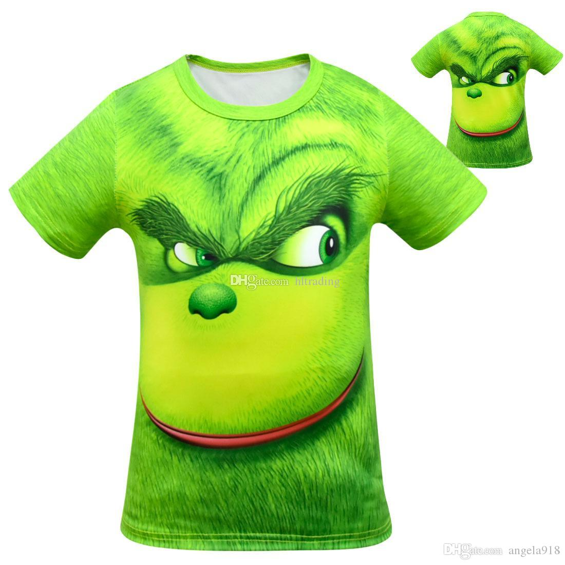 57492435 2019 Baby Boys The Grinch Print T Shirts Summer Short Sleeve Tops Cartoon  Children Tees Kids Clothing C5678 From Angela918, $5.0 | DHgate.Com