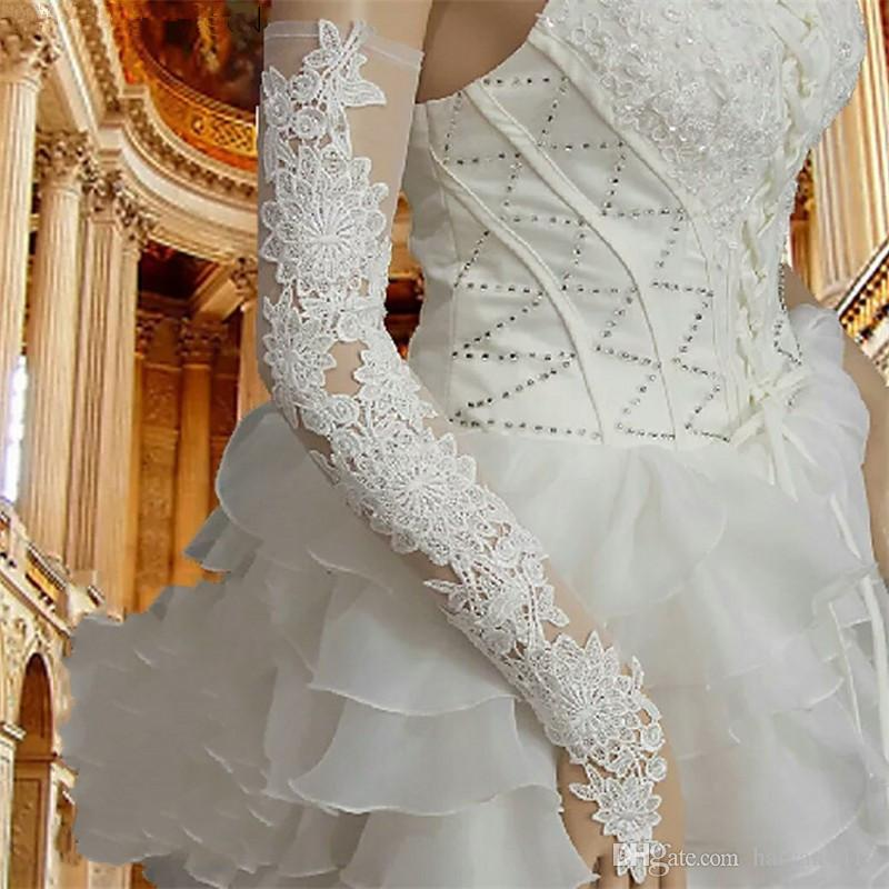 Bride/'s wedding dress accessories Cathedral wedding dress Fingerless Lace Gloves