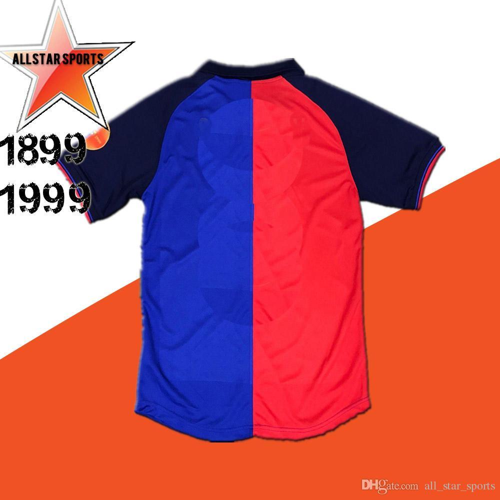 e0b6b98dbff 99 00 Rivaldo Puyol Figo Xavi Vintage League 1999 Home Centenary Guardiola  Kluivert Retro Soccer Jersey Maillot Football Shirts Camisetas Canada 2019  From ...