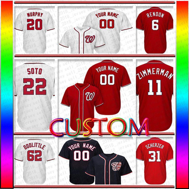 78817d1b6 ... shopping 2018 custom washington 31 max scherzer jersey 22 juan soto 6  anthony rendon 62 sean