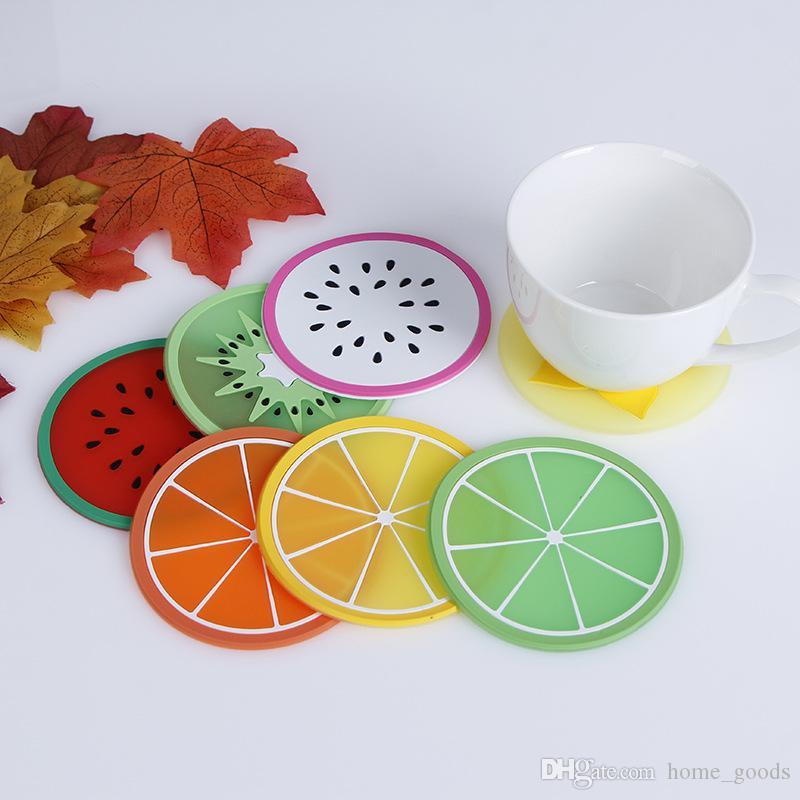 Fruits silicone coaster mat pad café tasse résistant à la chaleur antidérapante Cadeau