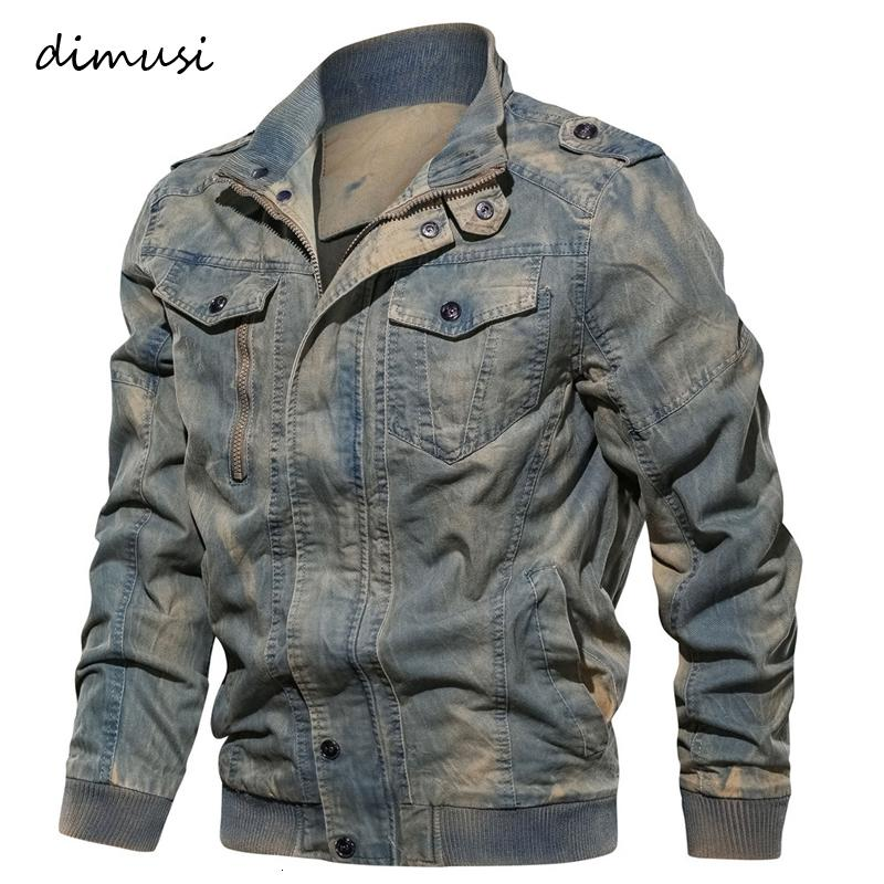DIMUSI Printemps Automne Hommes Denim Veste Trendy Fashion Ripped Denim Jeans Veste homme Veste Homme Outwear Cowboy Manteaux 6XL, YA778 LY191206