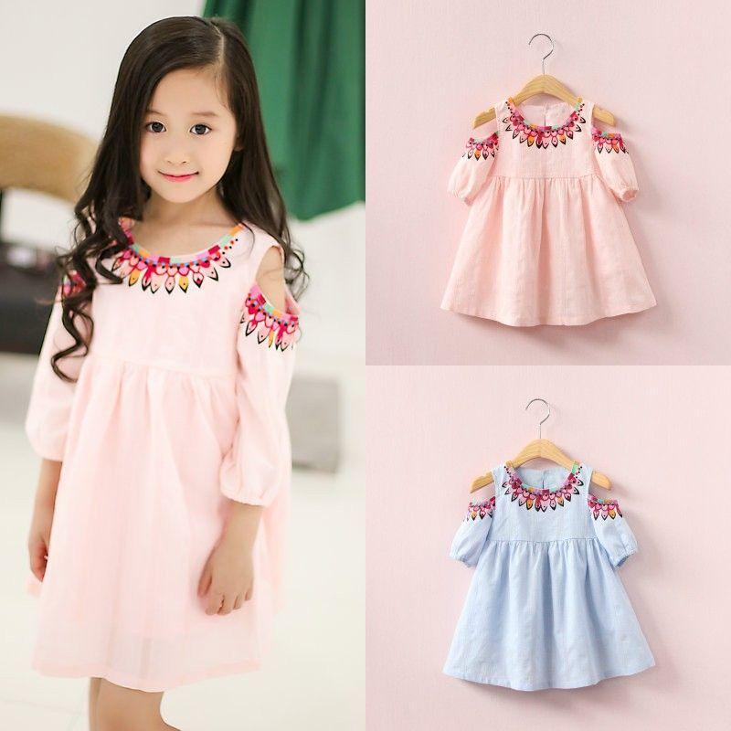 09cab7808 2019 Baby Girls Folk Custom Flower Dress Short Sleeve Summer Cotton  Children Printing Strapless Dresses Kids Clothing From Kids_show, $6.85 |  DHgate.Com