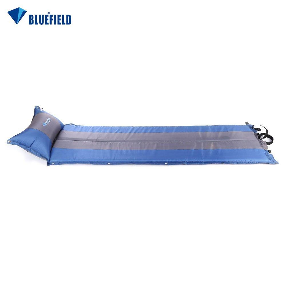 BLUEFIELD Automatic Air Mattress Camping Mat Double Moisture Cushion Pad  Mat for Camp Picnic Barbecue Self-driving Travel