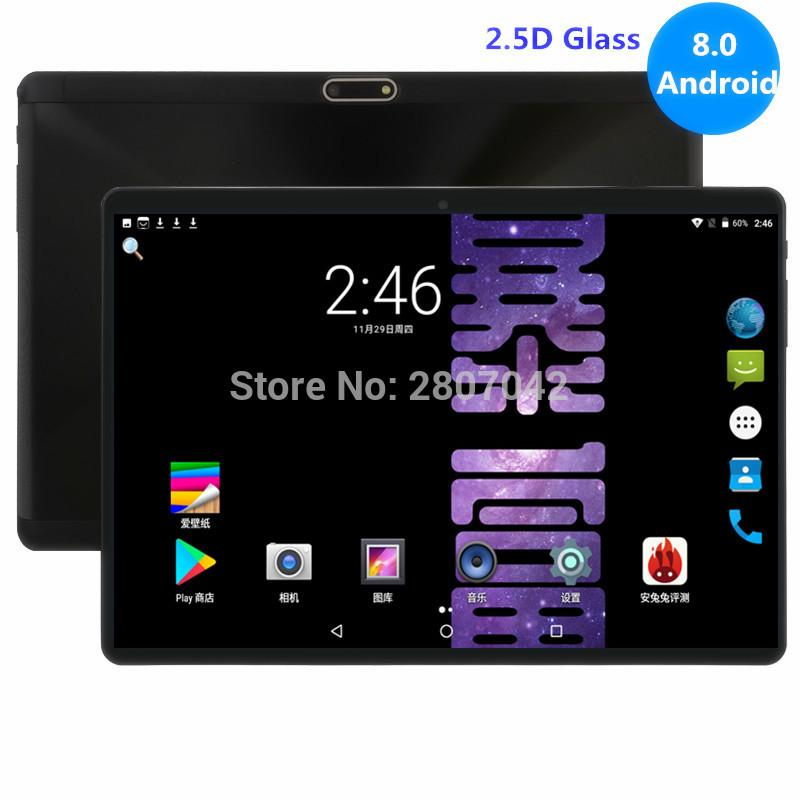 2019 Edition Tempered 2.5D Glass 10 inch tablet Android 8.0 Octa Core 4GB RAM 32GB ROM 8 Cores 1280x800 IPS Screen Tablets 10.1