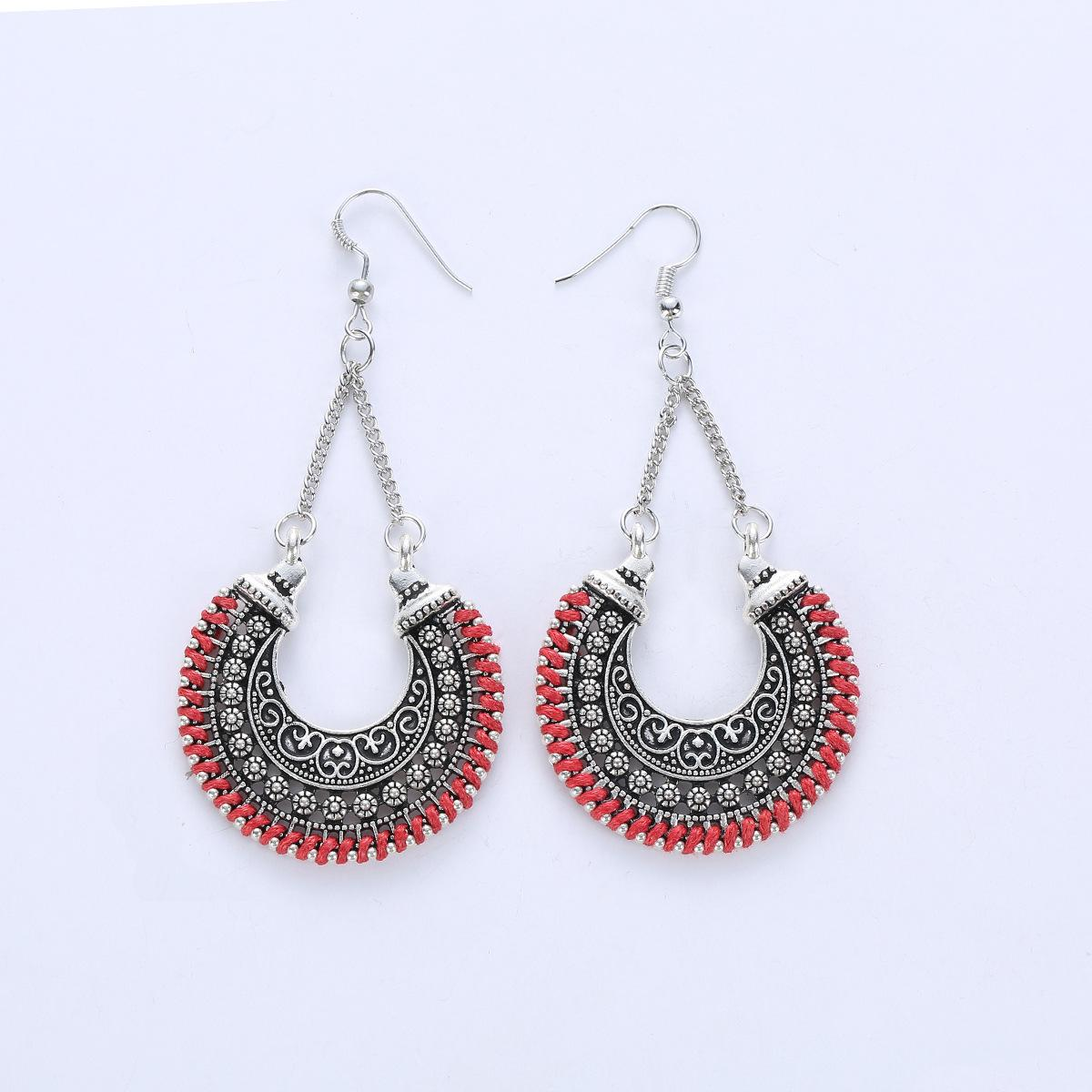 ed84e1546 2019 Fashion Retro Earring European And American Fashion Metal Hollow  Carved Crescent Basket Earrings Knitting Rope U Shaped Pendant From  Susanjoying, ...