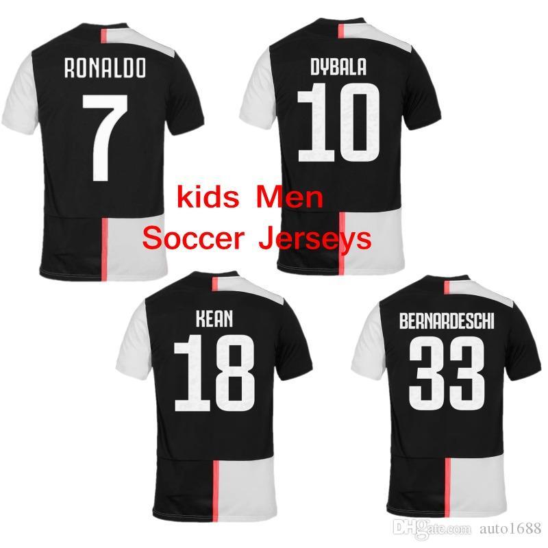 f6e2de3c50660 2019 19 20 New Kids Juventus Soccer Jerseys Men Sports Shirt Home NO ...