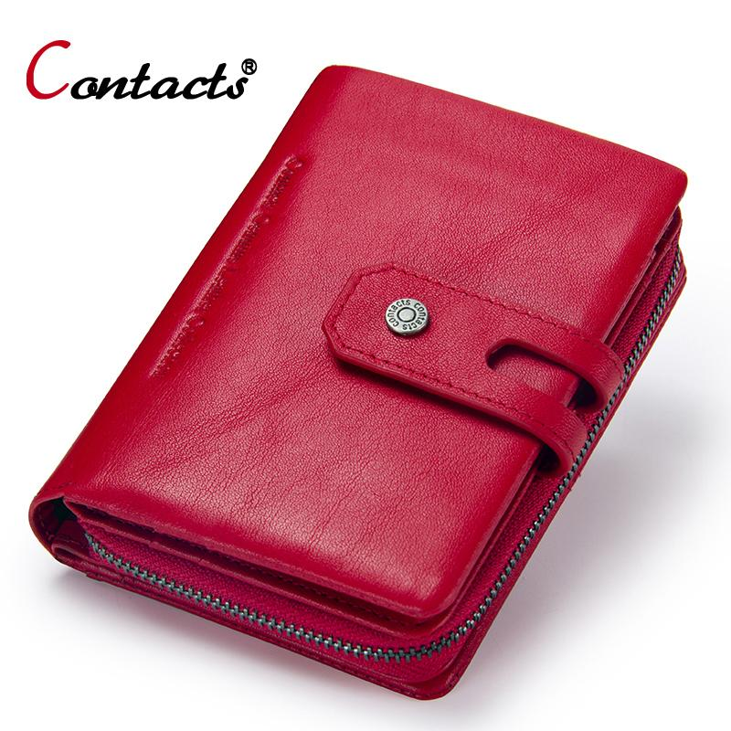 654f1314a01b Contact s Women Wallets Business Card Holder Women s Genuine Leather  Wallets Women s Coin Purse Female Clutch Bag Ladies Purse Y19052302