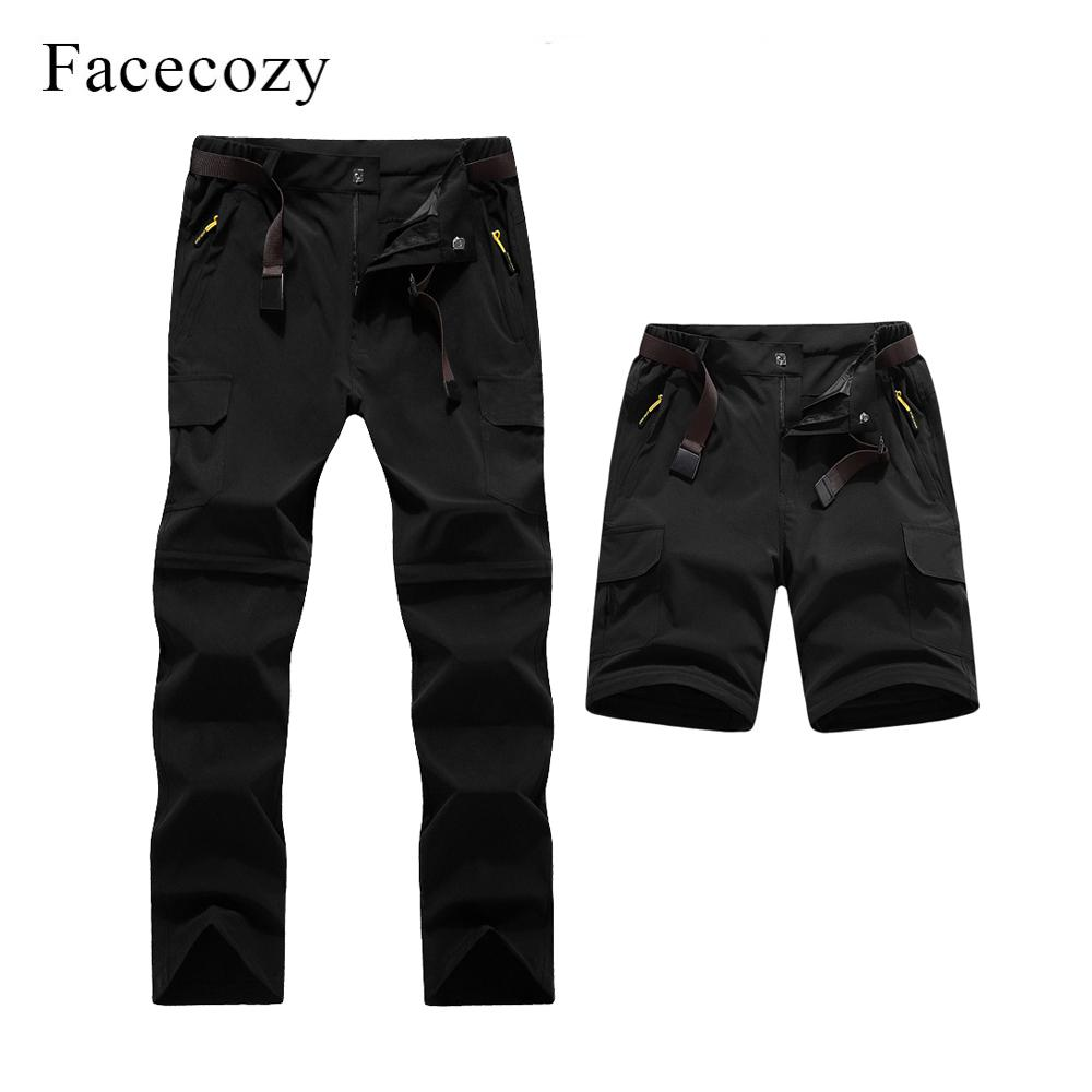 89e32db4931 Facecozy 2019 Men s Summer Convertible Quick Dry Hiking Pants Male ...