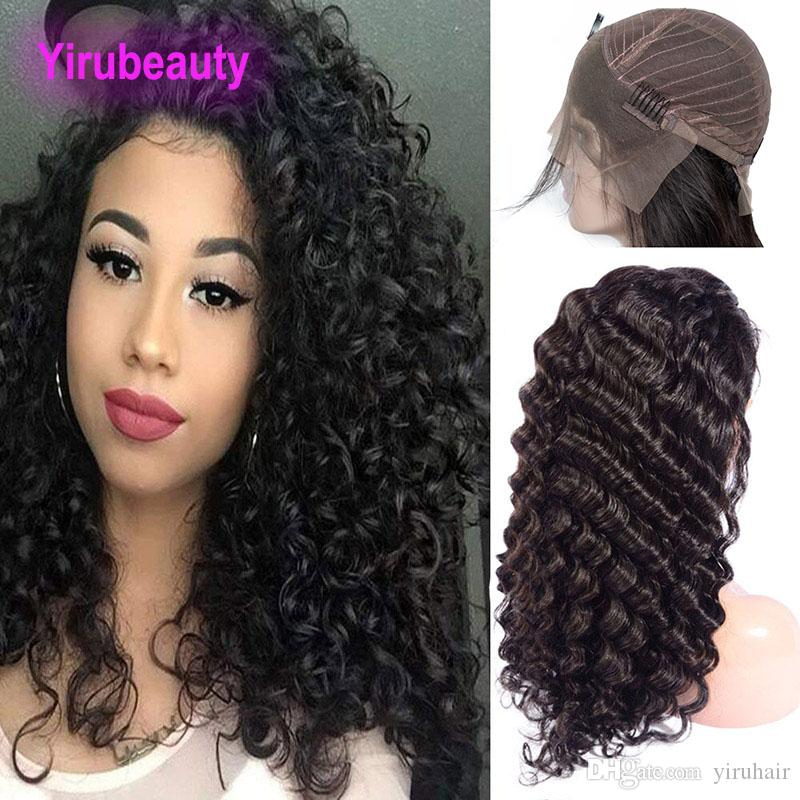 Hair Extensions & Wigs 100% Quality Peruvian Lace Wig Water Wave 13*6 Lace Front Human Hair Wigs Front Lace Wigs With Baby Hair Pre Plucked Natural Hairline Remy