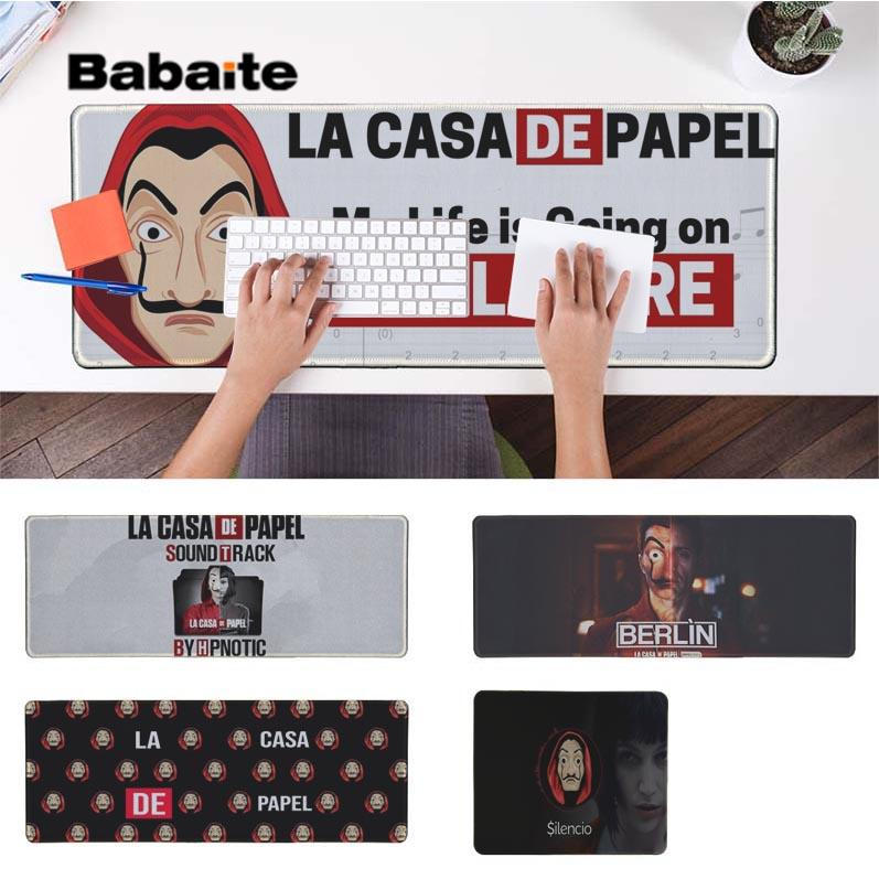 Babaite Top Quality La Casa De Papel Large Mouse pad PC Computer mat Free Shipping Large Mouse Pad Keyboards Mat