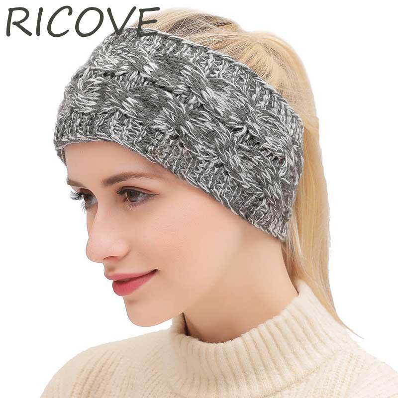 Großhandel Stricken Kopfbedeckungen Winter Mütze Frauen Turbans Mode