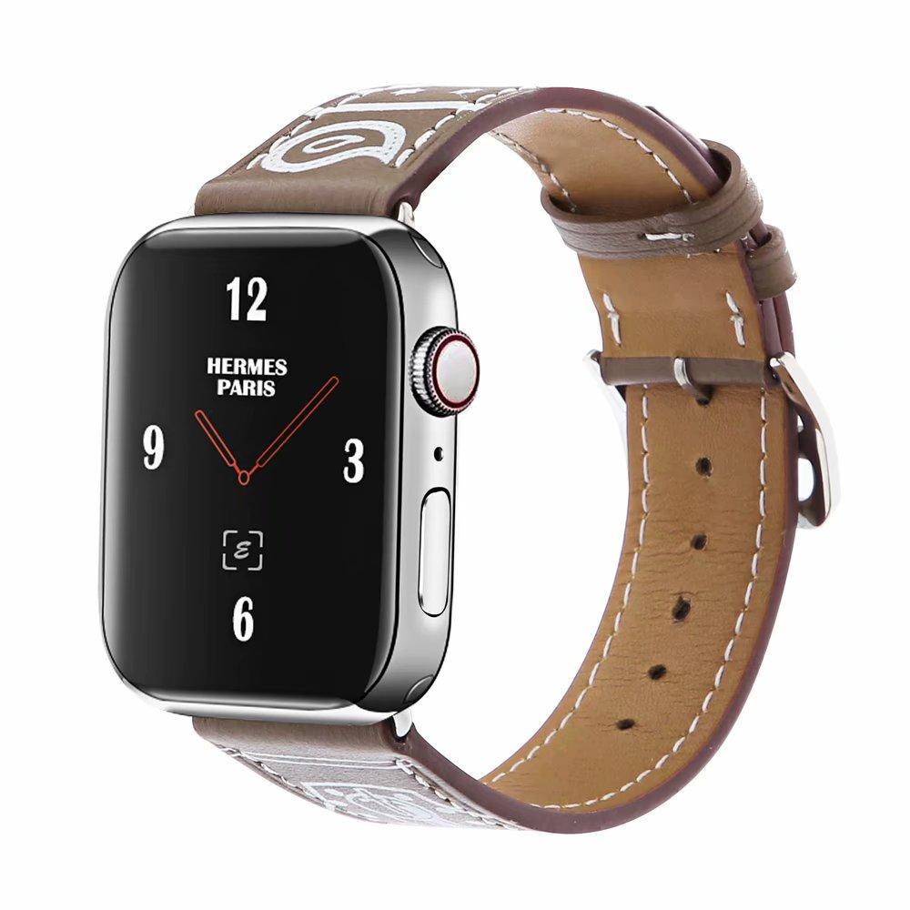 56c0d1ab049a Compre Correa De Reloj De Alta Calidad Para Apple Watch Band 42 Mm 38 Mm 40  Mm 44 Mm Correa De Cuero De Viaje Único Para IWatch 4 3 2 1 Correa De  Pulsera A ...