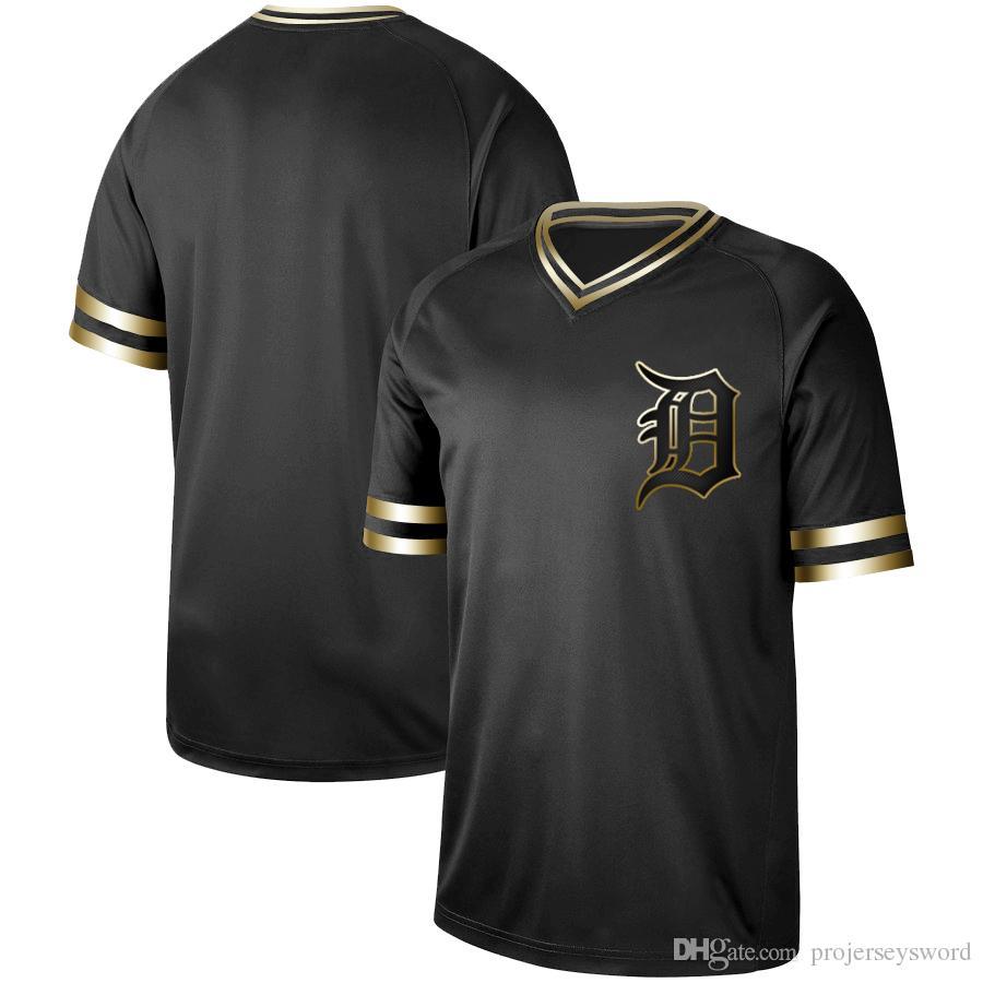 factory authentic e576e 52195 Mens Detroit Black Gold 24 Miguel Cabrera 28 Niko Goodrum 1 Josh Harrison  46 Jeimer Candelario 50 Reed Garrett Tigers Baseball Jerseys