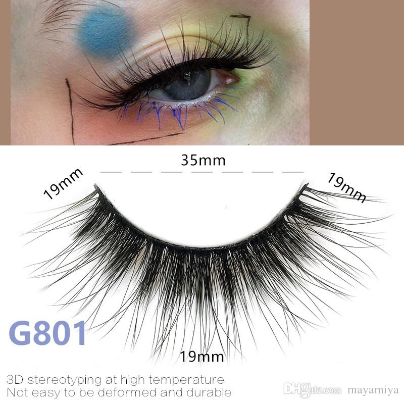 5pairs/set False EyeLashes 5 Pairs 3D Natural Long Fake Eyelashes G801 Handmade Makeup Tools Accessories DHL