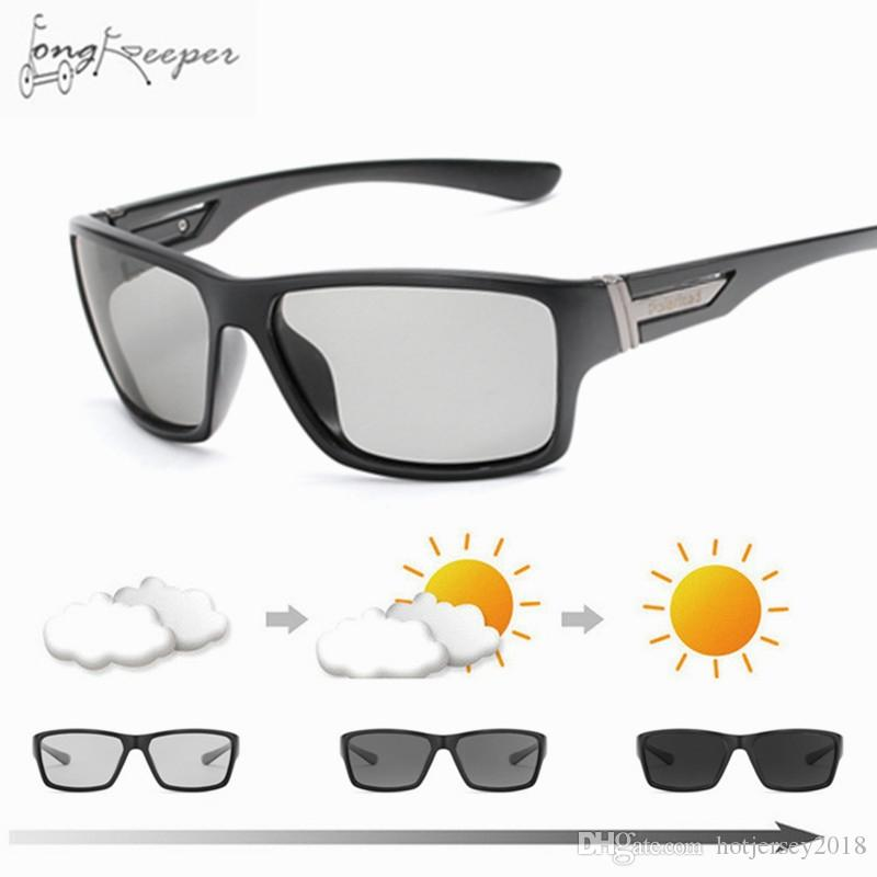 055ab1de3 Compre Condução De Ciclismo Dos Homens Polarizada Polarizada Óculos De Sol  Do Vintage Day Night Óculos De Visão Noturna Para Homens Mulheres UV400  Masculino ...